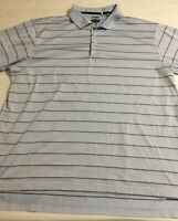 Adidas Climacool Golf Blue Stripes Men's XL Short Sleeve Polo Shirt