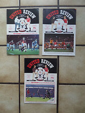 3 x Manchester United Home Football Programmes - Div 1 + FA Cup - 1980s - Lot 12