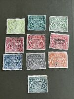 Bavaria Bayern Service 10 stamps , 1920 , 9 Used, 1 Mint