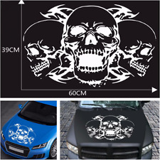 Universal Car Hood Stripes Skull Decals Stickers Vinyl Graphics For SUV Pickup