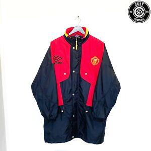 1994/95 MANCHESTER UNITED Vintage Umbro Bench Coat Jacket (L) Cantona Keane