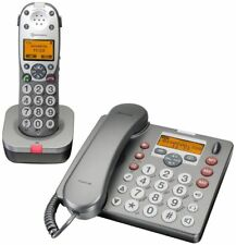 Audioline Amplicomms Powertel 880 DUO Telefon mit Anrufbeantworter großen Tasten