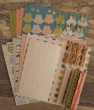 Stampin' Up NURSERY NEST dsp PAPER CARD KIT--Embossed, Punches, Clothes Pins+