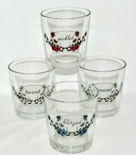Fishs Eddy Set Of 4 Under The Influence Old Fashioned Glasses NIB