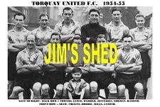 TORQUAY UNITED F.C.TEAM PRINT 1954-55 (SHAW / JEFFERIES / TOWERS)