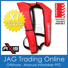 AXIS OFFSHORE INFLATABLE PFD1 LIFEJACKET 150N Manual Life Jacket/Vest/Boat