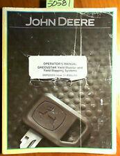 John Deere Greenstar Yield Monitor & Yield Mapping Systems Operator Manual 3/04