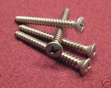 Neck Plate Screws for Fender - Phillips Head - Stainless - (4) Pak