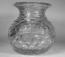 Vintage Cut Crystal Vase Turkish Glass