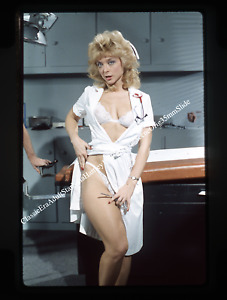 **1980's Classic Actress Nina Hartley Glam Pin Up Orig 35mm Slide**Bonus Slide