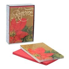 Christmas Boxed Cards - Rejoice Poinsettia