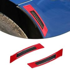 2X Reflective Red Carbon Fiber Car Wheel Edge Anti-Collision Protection Stickers