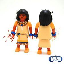 playmobil Indiani e Donna indiana Squaw Ragazza con Bambola