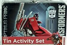 Transformers Optimus Prime Tin Activity Set  Holiday Gift Travel BRAND NEW!