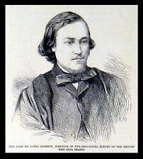 Feu M. Lucas Barrett-BRITISH WEST INDIA ISLANDS 1863 Victorienne Gravure