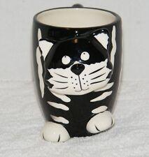 BURTON & BURTON BLACK & WHITE CHESTER THE CAT 10 oz CERAMIC COFFEE MUG EUC