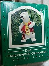 Hallmark 1987 Dad Ornament Handcrafted With Box