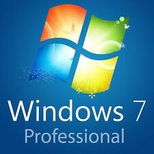 MS Windows 7 Professional 64 Bit DVD + Lizenz KEY Code SP1 VOLLVERSION Deut. OEM