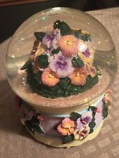 Edelweiss Flower Mushroom Water Globe San Francisco Music Box Company