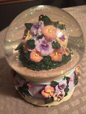Edelweiss Flower Mushroom Water Globe San Francisco Music Box Company
