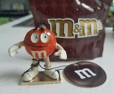 M&M MONET JEWELRY TRINKET BOX W CHARM ENAMEL ORANGE NEW W TAG & CANDY BAG MACY'S