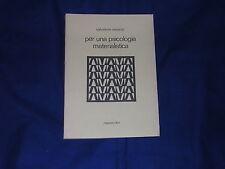 Cesario per una psicologia materialistica Manzeo Libri