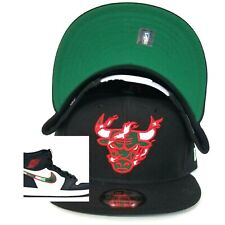 New Era Fire Flame Chicago Bulls snapback hat Jordan 1 illustrated