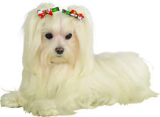 Pet Christmas Festive Holiday Female Accessory Hair Bows