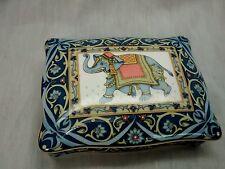 Nice Vtg. 1992  Wedgwood blue elephant made in England trinket box jewelry box