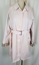 Rainshedder Pink Insulated Long Belted Cape Top Classic Trench Coat Womens 12