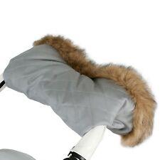 My Babiie Fur Trimmed Pram / Pushchair / Stroller Parent Hand Muff - Grey