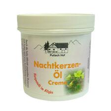 4 x 250ml Nachtkerzen Öl Creme vom Pullach Hof Balsam Hautpflege Gesichtspflege