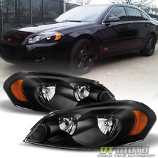 Black 2006-2013 Chevy Impala 06-07 Monte Carlo Replacement Headlights Left+Right