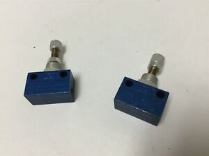 Lot of 2 Festo GR-M5 Flow Control Valves, Pressure Rating: 0.5-10bar, M5 Ports