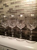 Royal Crystal Rock Water Glass Crystal 'Opera' set of 4 RCR