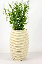 Wooden Decorative Mango Wood Vase Triangular Grooved Bud