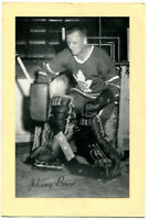 1945-64 Beehive Group 2 Johnny Bower Card Toronto Maple Leafs Nice Clean