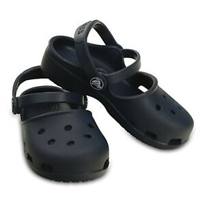 Crocs Karin Clogs Relaxed Fit Navy Blue Women's US Size 4 New Free Shipping