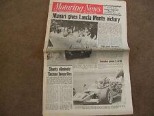 Motoring News 3 February 1972 Red Dragon & Monte Carlo Rally Lola T280 Cutaway