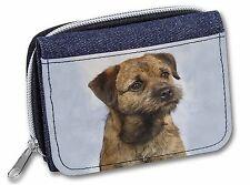 Border Terrier Girls/Ladies Denim Purse Wallet Christmas Gift Idea, AD-BT2JW