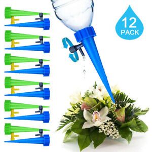 12x Automatic Self Watering Spikes System Garden Home Plant Pot Water-er Tools