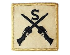 GENUINE MILITARY SNIPER CLOTH BADGE iron / sew on sand jacket patch army surplus