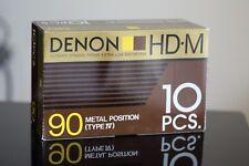 DENON HD-M METAL BIAS TYPE IV audio cassettes new sealed