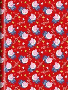 4 METRE ROLLS PEPPA PIG STAR GAZING Christmas Birthday Wrapping Paper