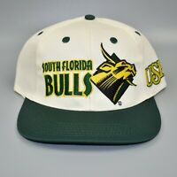University of South Florida USF Bulls Vintage 90's NCAA Snapback Cap Hat - NWT