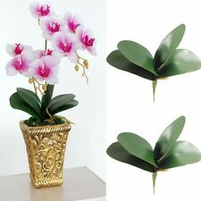 1 Artificial Butterfly Orchid Silk Leaf Plastic Flowers Wedding Party Home Decor