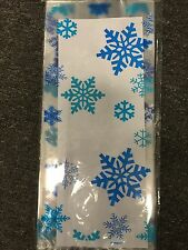 CHRISTMAS XMAS FROZEN PARTY 20 CELLO SNOWFLAKES PLASTIC LOOT LOLLY TREAT BAGS