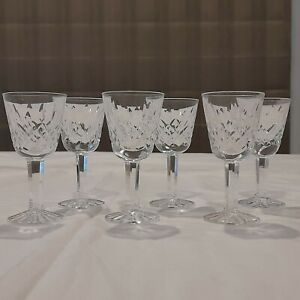 6 x Waterford Crystal Lismore Sherry Glasses