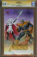 Lady Death & Thanos Sketch Cover By Val Mayerik In Color! CGC Graded Sexy Girl Comic Art