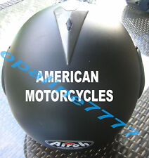 STICKER CASQUE AMERICAN MOTORCYCLE POUR BUELL BIKER CHOPPERS
